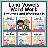 Word Work Centers and Activities | Long Vowels Bundle