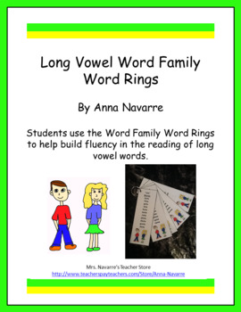 Long Vowel Word Family Rings