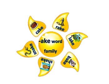 Long Vowel Word Family Suns Literacy Center Word Sort