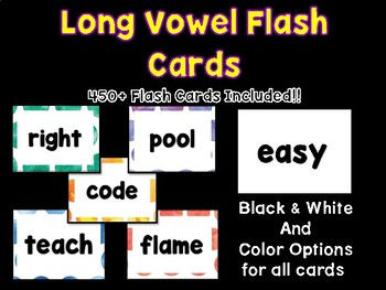 Long Vowel Word Flash Cards