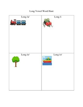 Long Vowel Word Hunt