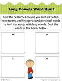 Long Vowel Word Hunt-A Write Around the Room Activity