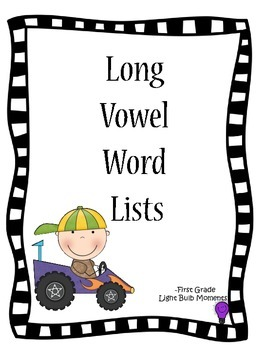 Long Vowel Word Lists