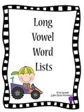 Long Vowel Word Lists