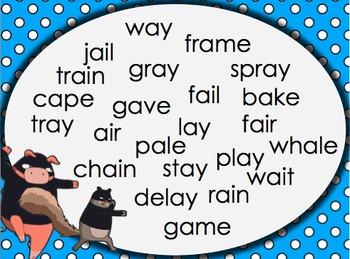Long Vowel Word Parts: WORD NINJA