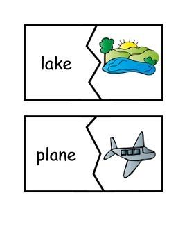 Long Vowel Word Puzzle Match