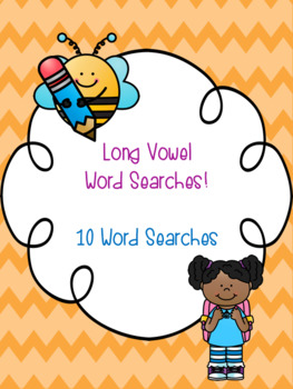 Long Vowel Word Search Bundle! {10 word searches}