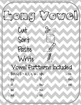 Long Vowel Word Sort