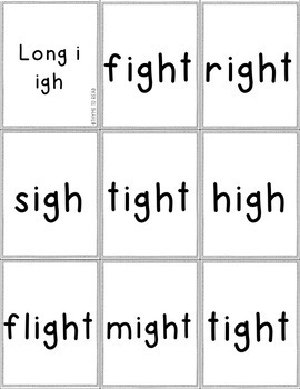 Long Vowel Flash Cards