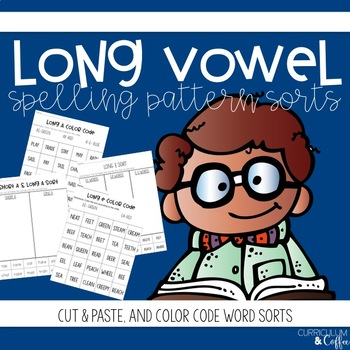 Long Vowel Word Sort- Cut & Paste, and Color Code