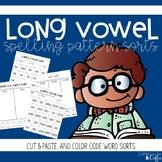 Long Vowel Word Sort- Cut & Paste, and Color Code