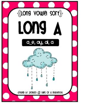 Long Vowel Word Sort {Long A}