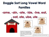 Long Vowel Word Sort with Doggies Literacy Center Daily Five Activity