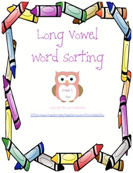 Long Vowel Word Sorting