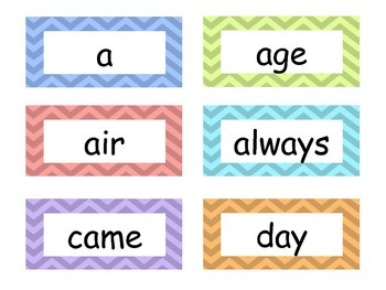 Long Vowel Word Sorts