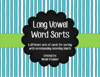 Long Vowel Word Sorts!