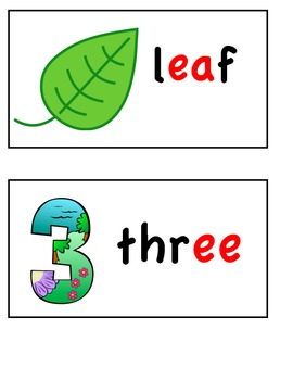 Long Vowel Word Wall Cards (long e)