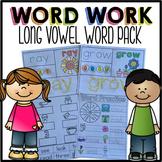 Long Vowels Word Work | Long Vowels Worksheets | Long Vowels Activities