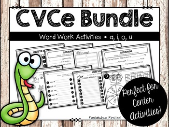 Long Vowel Word Work Activities Bundle {CVCe Pattern}