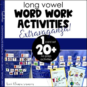 Long Vowel Word Work Activities Extravaganza