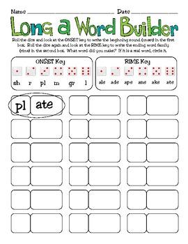 Long Vowel Word Work Activities Pack - Common Core Aligned