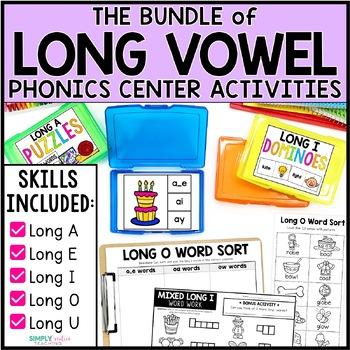 Long Vowel Word Work Bundle