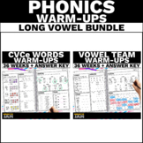 Long Vowel Word Work   Long Vowel Teams, CVCe and Diphthon