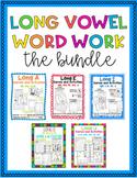 Long Vowel Word Work THE BUNDLE