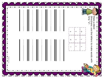 Long Vowel Word Work and Center Activities