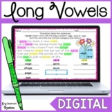 Distance Learning Long Vowel Word Work Activity for Google