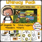 Long Vowel Word Work with Five Happy Honeybees Singable