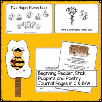 Long Vowel Word Work with Five Happy Honeybees Singable
