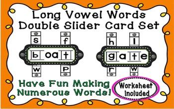 Long Vowel Words Double Slider Set