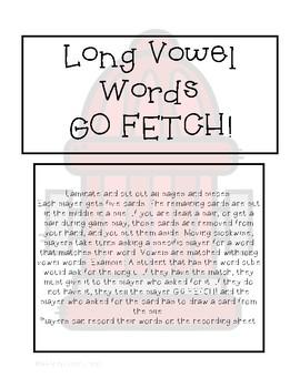 Long Vowel Words GO Fetch!