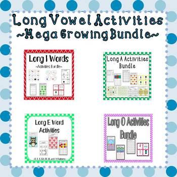 Long Vowel Words Growing Activities Bundle