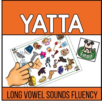 Long Vowel Words Recognition and Fluency YATTA - Color and/or Black and White