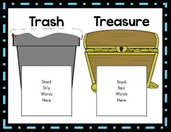 Treasure Or Trash Sounding Out Cvc Real Words And Nonsense In A