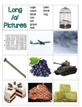 Long Vowel Words and Pictures Memory
