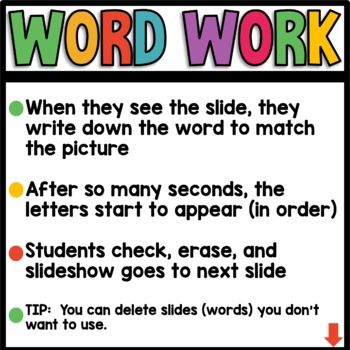 Long Vowel Words (bossy e) EARLY FINISHER PPT