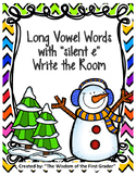 """Long Vowel Words with Silent """"e""""   Write the Room"""