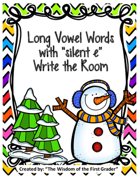 "Long Vowel Words with Silent ""e""   Write the Room"