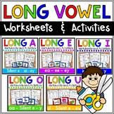 Long Vowel Worksheets Bundle (Long a, e, i, o, u) - NO PREP literacy centers!