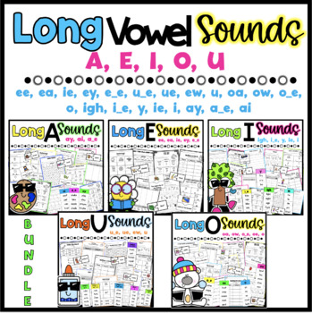 Long Vowel Worksheets {Differentiated*} 81 Pages