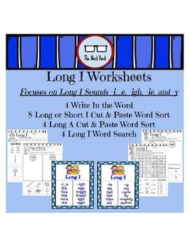 Long Vowel Worksheets - Long I (No Prep)