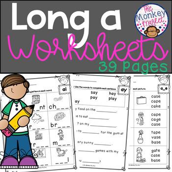 Long Vowel Worksheets - Long a