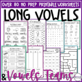 Long Vowel Worksheets Vowel Team Printables Vowel Digraphs