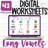 Long Vowel Worksheets NO PREP DIGITAL Vowel Teams Activiti