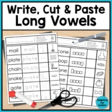 Long Vowel Worksheets: No Prep Write, Cut and Paste Activities