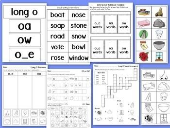 Long Vowel Worksheets and Activities BUNDLE Vowel Teams Spelling Patterns