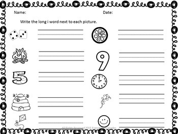 Long Vowel Write the Room